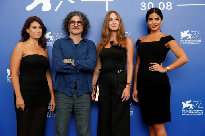 "Director Ziad Doueiri poses during a photocall for the movie ""The insult"" at the 74th Venice Film Festival in Venice"